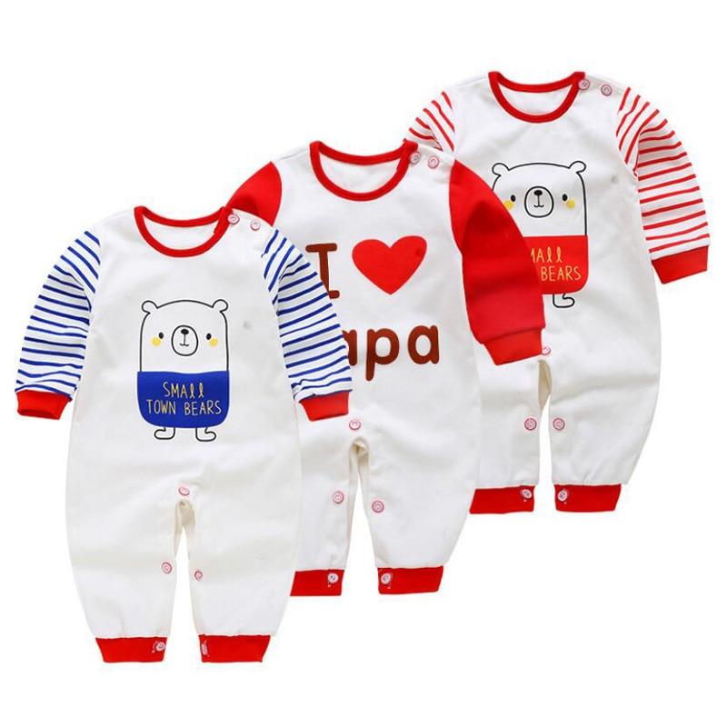 3PCS/Set Newborn Baby Rompers Boy Playsuit Clothes Cotton Cute Jumpsuit Infant Girl Body Romper Clothing for 0-12M