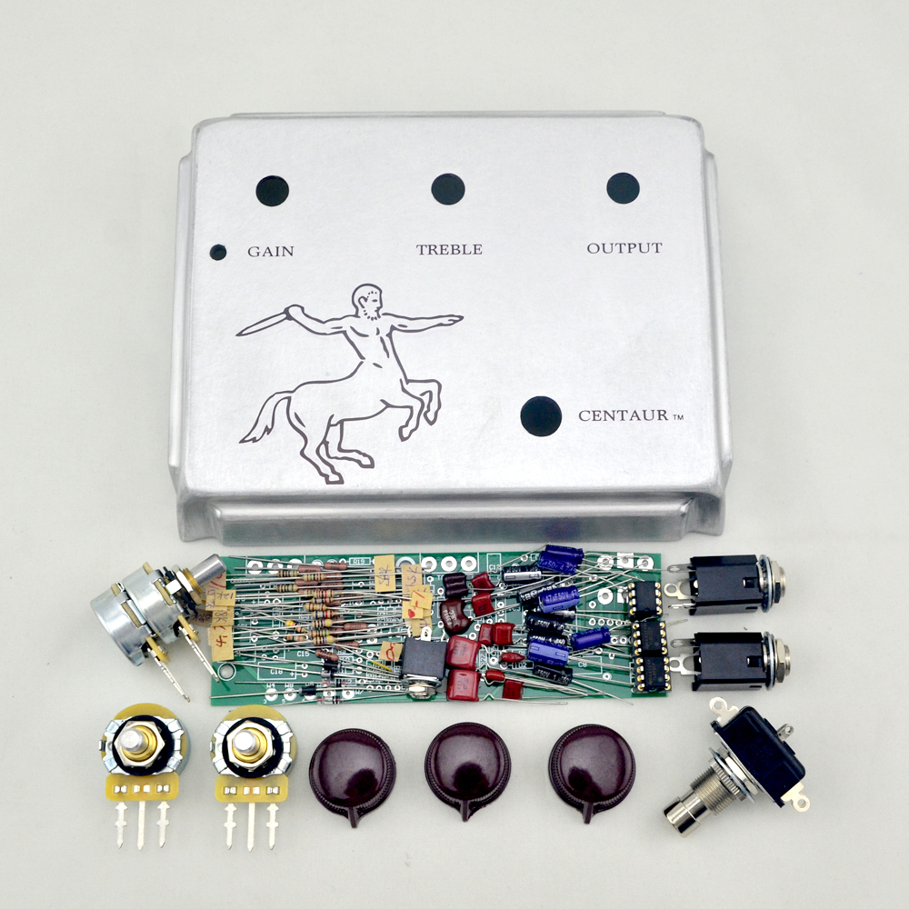Klon Centaur Silver Professional Overdrive Guitar Effect Pedal KIT / Stomp box diy klon overdrive pedal professional overdrive clone guitar effect pedal true bypass cr