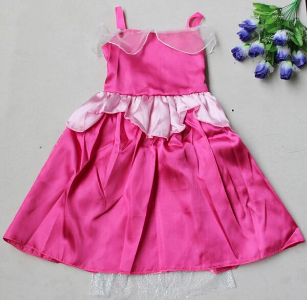 DB23655 Children Girl princess sofia dress-17