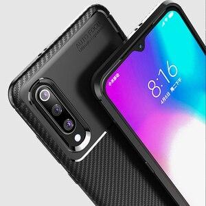 Image 3 - Xiao mi mi A3 bir 3 kılıf lüks karbon fiber kapak darbeye dayanıklı telefon kılıfı için mi 9 Lite CC 9 CC 9e kapak Ultra Fit tampon kabuk