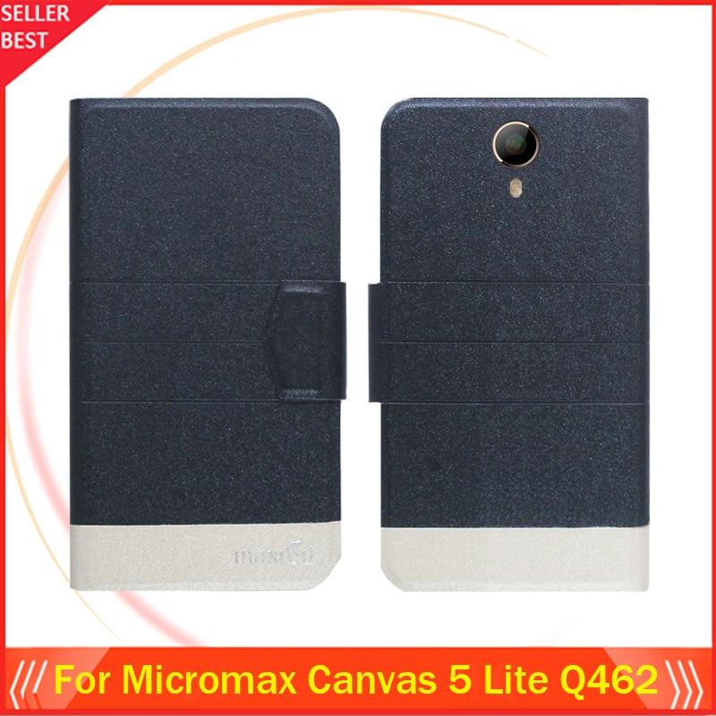 5 Colores Super! micromax canvas 5 lite q462 caja del teléfono del tirón del tel