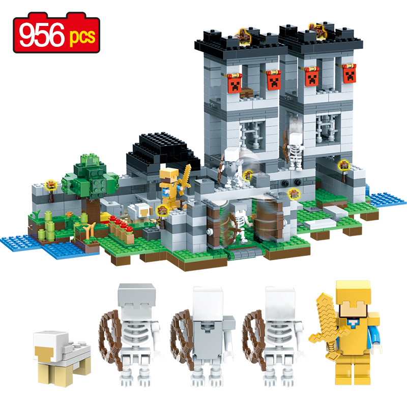 Technic Building Blocks Compatible LegoINGLYS Minecrafter Fortress My World Enlighten Action Figure Toys Toys For Children bela 10393 my world the nether fortress model self locking building block classic architecture toy for children compatible 21122