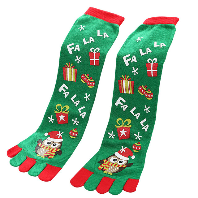 toe socks christmas women casual socks harajuk unisex long socks meias calca feminina funny socks kawaii - Funny Christmas Socks