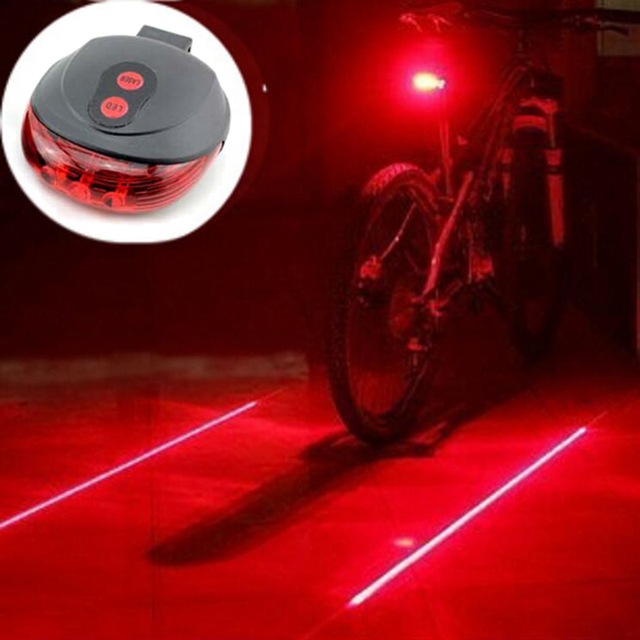 Bicycle LED Light | 2 Laser Lines Night Road Rear Back-light