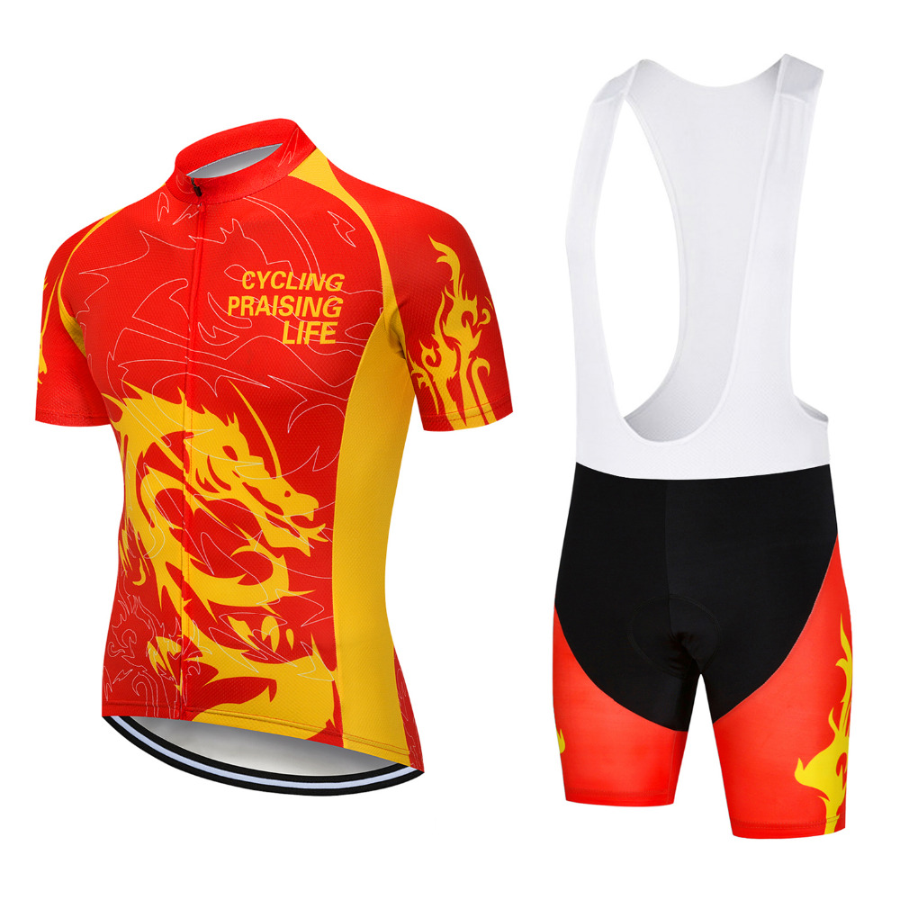 Yellow Cycling Short Sleeve Weimostar Clothing Set Bicycle Men Jersey Bib Shorts