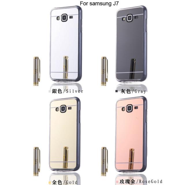 Luxury Case For Samsung Galaxy J7 Mirror Case For Samsung J7 2015 SM-J700F SM-J700M SM-J700H SM-J700K SM-J700P TPU Cases