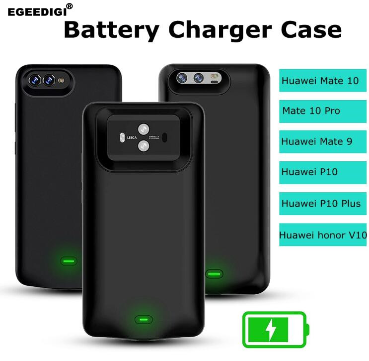 Egeedigi Power <font><b>Case</b></font> For <font><b>Huawei</b></font> <font><b>P10</b></font> Plus <font><b>Battery</b></font> Charger <font><b>Case</b></font> For <font><b>Huawei</b></font> Honor V10 Mate 9 10 Pro Silicone external Charge <font><b>Case</b></font> image