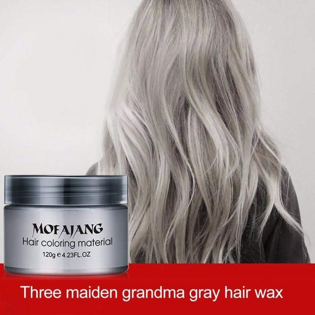 7 Colorful Fashion Hair Coloring Cream Styling One-Time DIY Color Hair Wax Disposable Temporary Hair Dye Mud Grandma Gray Purple 2