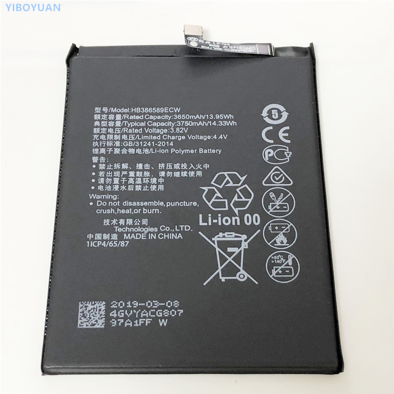 3.82v 3750mah Hb386589ecw For Huawei P10 Plus Vky-l09 Vky-al00 Battery Clearance Price Vky-l29