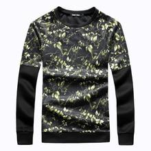 Mens t shirts fashion 2017 train t shirt B5885 Hitz 3D leafy black stitching sleeve T-shirt large yard space cotton sweater men