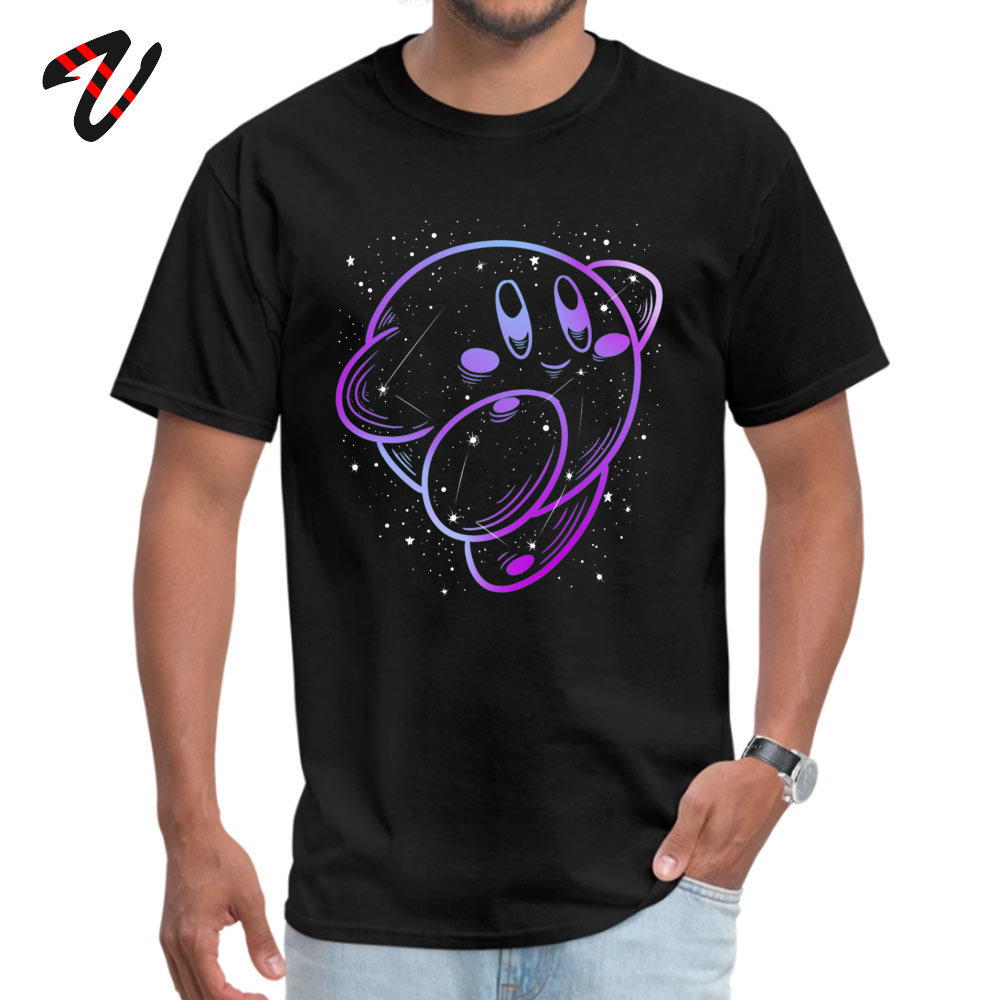 Kirby Constellation Short Sleeve Tops & Tees Crewneck 100% Cotton Men Top T-shirts Classic Tee Shirts Graphic Drop Shipping Kirby Constellation10926 black
