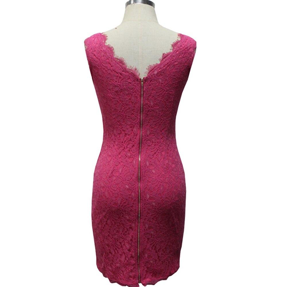 Vintage Kurzen Cocktail Bodycon Kleid Elegante Frauen Robe De Soiree ...