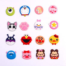 Cute cartoon Expanding Phone Holder Car Mount Lazy Hand Finger Ring Grip Holder Flexible Pocket Desk stand For iPhone 6 7 8 gaming hand grip holder with stand for iphone 4 black