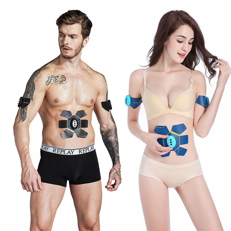 Abdominal Muscle Training Stimulator Device Wireless EMS Belt Gym Professional Body Slimming Massager Home Fitness Gear
