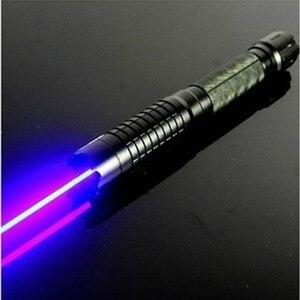 Image 3 - Pointeur Laser bleu brûlant lampe de poche vue torche 445nm 10000 m Laser focalisable brûler allumette bougie allumé pétard