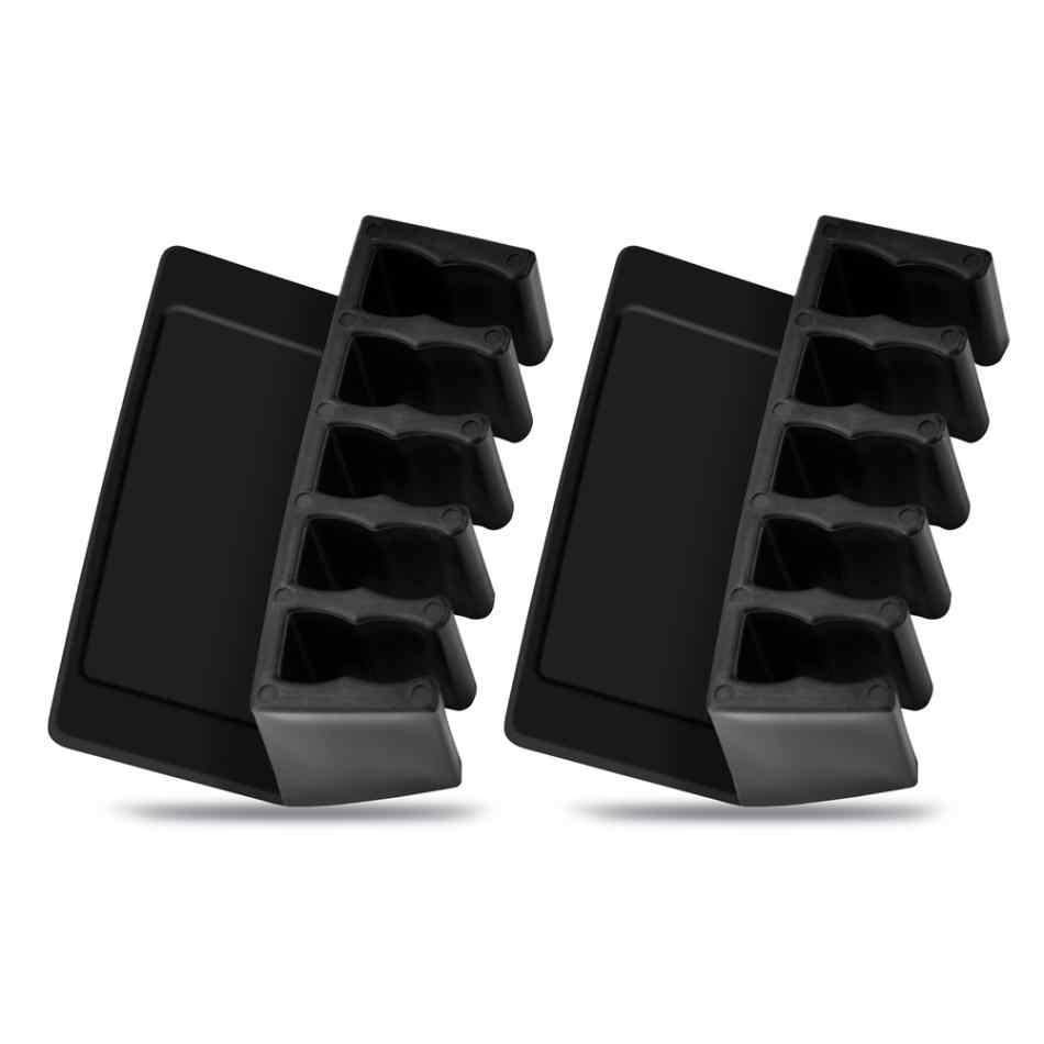 VBESTLIFE Universele Kantoor Draad Kabel Clips Desktop Koord Divider Kabel Organizer met 5 Slots Kabel Clips
