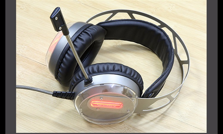 Xiberia X12 USB Gaming Headset Surround Sound Noise Canceling Luminous LED Light Over ear Headphones with Microphone for PC (9)