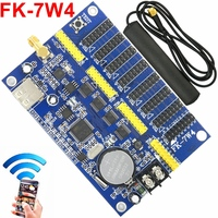 FK 7W4 wifi led controller board 3616*32/904*128 pixel wireless Wifi/phone APP/USB support p10,p13.33,p16,p4.75 led control card