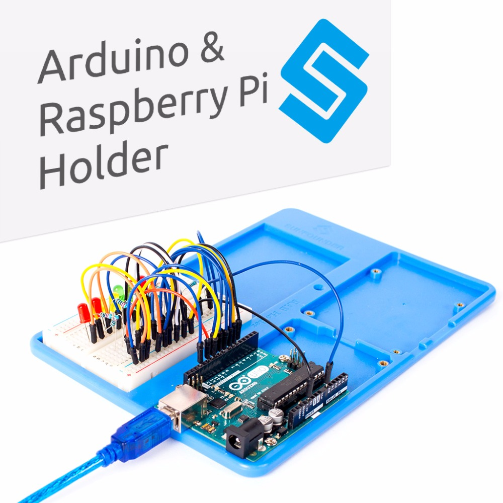 SunFounder RAB Raspberry Pi 3 Holder 5 in 1 Base Plate Case for Raspberry Pi 3 Model B, 2 Model B+ For Arduino 3 in 1 rev 3 0 512m arm raspberry pi project board model b and 2 heatsink and 1 acrylic case