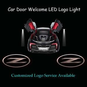 2x 3D Solid Z Logo Car Door Welcome Ghost Shadow Spotlight Laser Projector LED Light for 350Z 370Z Fairlady Z Z33 Z34(China)