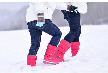 Classic Women Winter Boots Mid-Calf Snow Boots Female Warm Fur Plush Insole High Quality Botas Mujer Size 36-40 n544 1