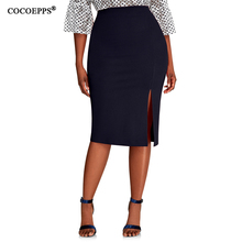 COCOEPPS 2019 Fashion New Brief High Waist Skirt Plus Size bodycon Pencil
