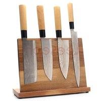 Magnetic Kitchen Knife Block(Natural Wood),Knife Holder,Knife Organizer Block,Knife Dock,Cutlery Storage Rack, Scissor Holder