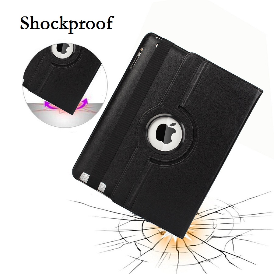 9.7'' Tablet Case for iPad 2 iPad 3 iPad 4 360 Case Smart Magnetic Rotation Stand A1430 A1459 Cover for iPad 4 Cover 360 Stand (4)