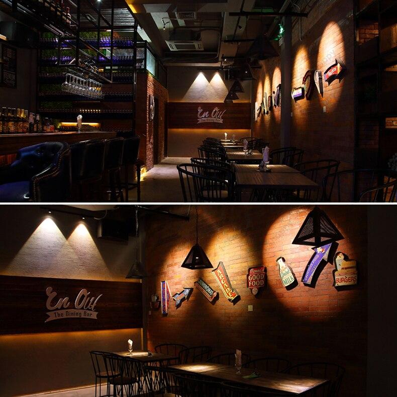 High Power 10W LED COB Ceiling Lamp Track Rail Spotlight Picture Light Teahouse