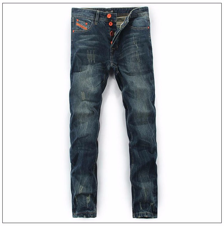 DSEL brand new men jeans straight fashion jeans cotton solid color wild men of good quality jeans casual pants free shipping