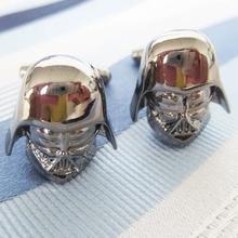 Promotion! Men Cufflinks wholesale&retail top copper Gunblack Colour Darth Vader Design Cuff links Free Shipping