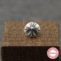 S925 sterling silver brooch personality retro style punk style iris flower needle round cross shawl send lover's gift jewelry