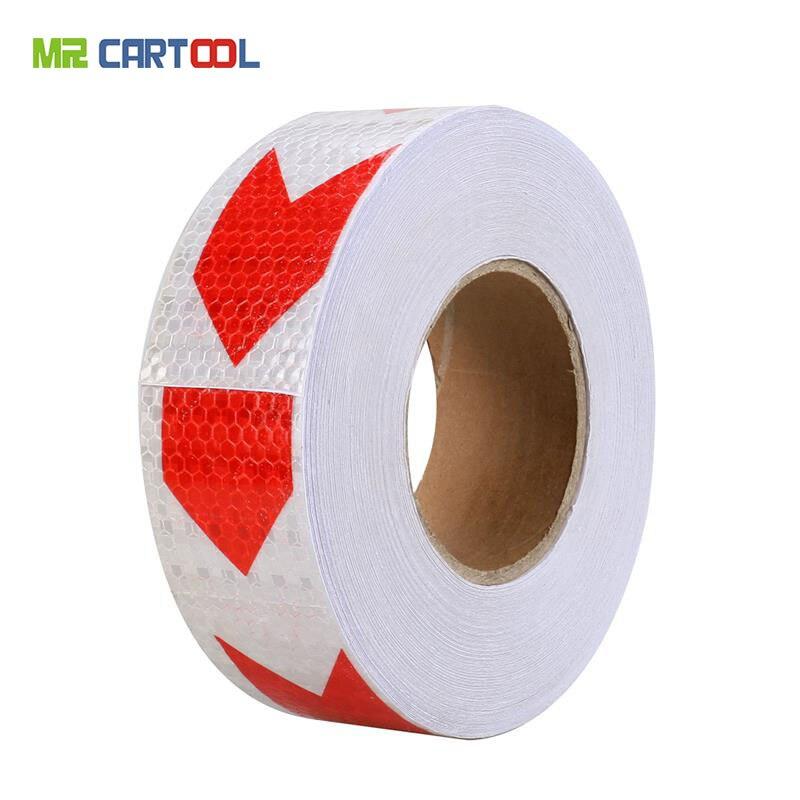 MR CARTOOL Reflective Strips Arrow Safety Warning Tape Waterproof Sticker Cars Trucks Trailers RVs Product Size 3M x 5cm