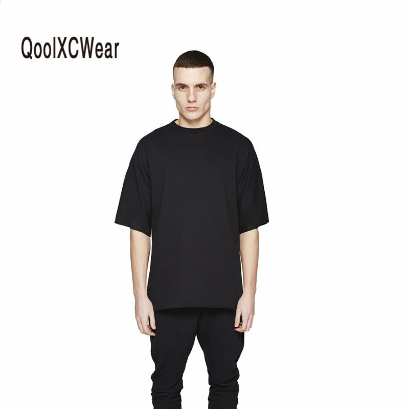 2018 T Shirt men Oversized T Shirt Homme Clothes T shirt Hip Hop Tshirt Streetwear Mens Loose Fit Extended T Shirts For Hipster