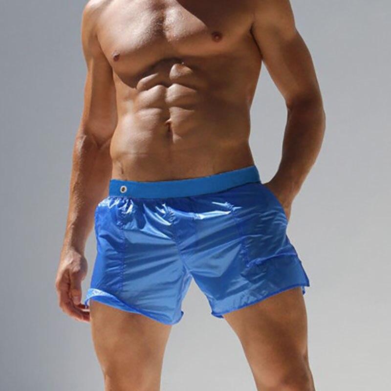 DICHSKI Summer Swimwear Men Shorts Swimsuits Briefs Beach Pocket Swim Trunks Plus Size Elastic Transparent Quick Dry Surf Board
