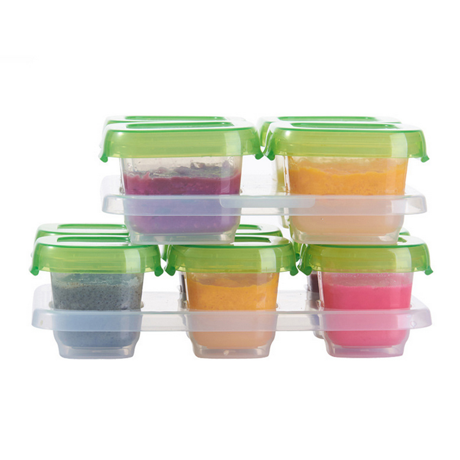 Mini Reusable Leak-Proof Baby Formula Food Storage Container Freezer Cubes Cups Jars Box Case With Trays For Infants Toddler