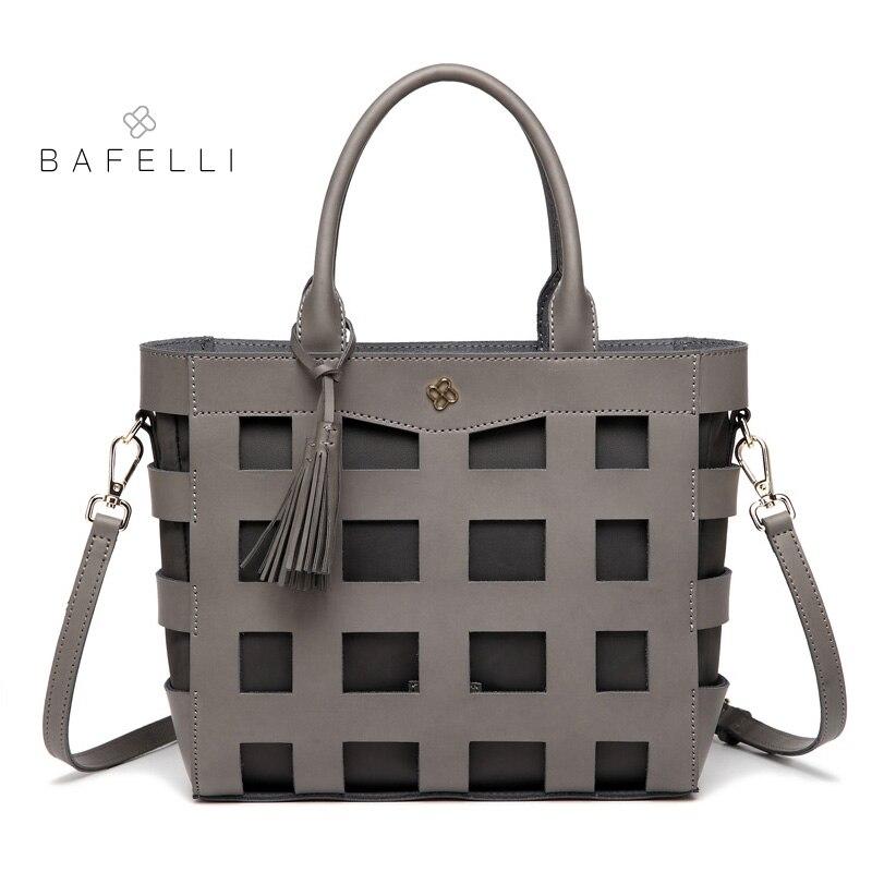 BAFELLI Весна с Новый Повседневное tote плеча сумочку мода выдалбливают crossbody bolsa mujer для женщин сумка