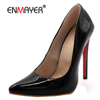 ENMAYDA Thin High Heel Slip On Basic 4 Colors Red Shoes Women New Fashion Spring Autumn