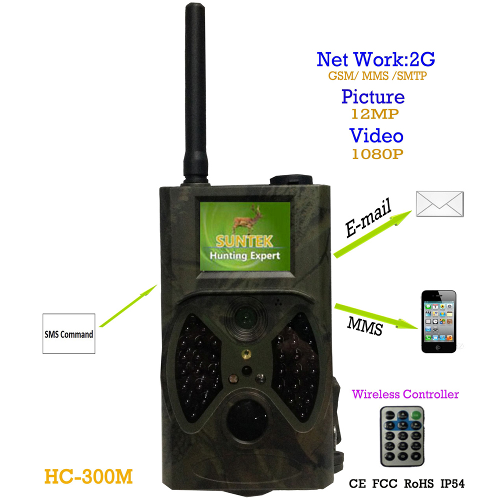 HD 12MP Trail Camera 1080P Video recorder waterproof camera 2G GSM SMS GPRS MMS digital trail camera infrared detector IP54 2 in hc500m hd gsm mms gprs sms control scouting infrared trail hunting camera hc 500m