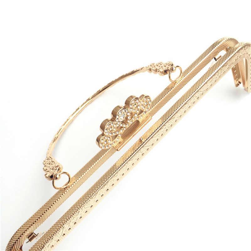10 шт./лот 20,5 см античная бронза Золотая Металлическая корона кошелек рамка Чистая сумка с пряжкой ручка для женская сумка-кошелек DIY сумки аксессуары