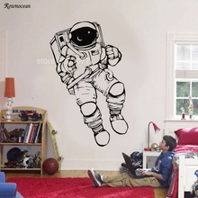Outer Space Cosmonaut Astronaut Wall Decal Nursery Room Decor Art Sticker Spaceman Vinyl Decoration Boys Bedroom Mural Z234