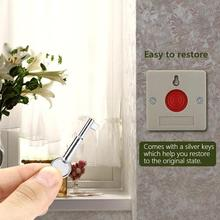 Mini Security Fire Emergency Alarm Panic Button DC 24V Wired for Family Office Outdoor