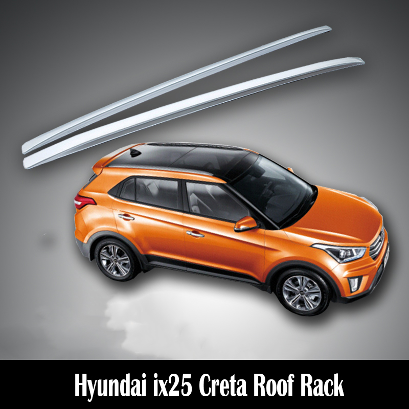 Sporting High Quality Silver Decoration Roof Rack Side Rails Bars For Hyundai Ix25 2015-2017 Roof Racks & Boxes