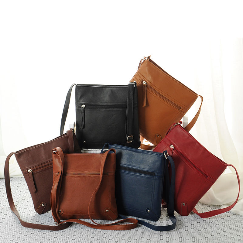 Women Cross Body Bags 2018 New Shoulderbag Men  Messenger Bag Handbag PU Leather Solid Color Satchel 4 Color 3