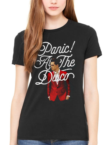 13b0875a63b25 Panic At The Disco Brendon Urie T shirt Woman Girls gift casual cotton tee  USA Size XS 3XL-in T-Shirts from Women s Clothing on Aliexpress.com