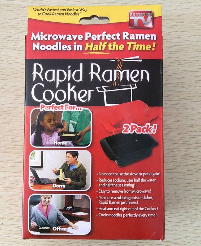 2pcs Cooking Bowl Microwave Rapid Ramen Cooker Microwavable Reusable