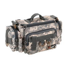 Multifunctional Camouflage Fishing Bag Fishing Tackle Bag Waist Bag Bait Box Pouch Case Polyester Pesca