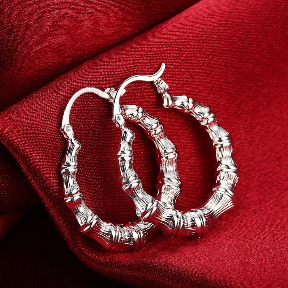 Round-Design-Big-Hoop-Earrings-Cute-Style-Silver-Fashion-Jewelry-Accessories-For-Women-Girl-Statement-Creole