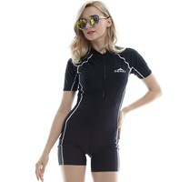 58fc8bb82 SBART Breathable Solid Short Sleeve Wetsuit Women Surfing Wet Suit Swimming  Spearfishing Diving Skin Swimsuit Equipment