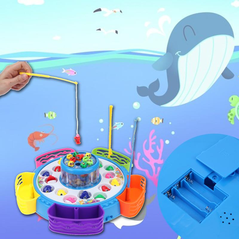 Double Layers Rotating Fish Turntable Kid Puzzle Game Toy with Music Light Game Educational Toy Birthday Gifts For Children